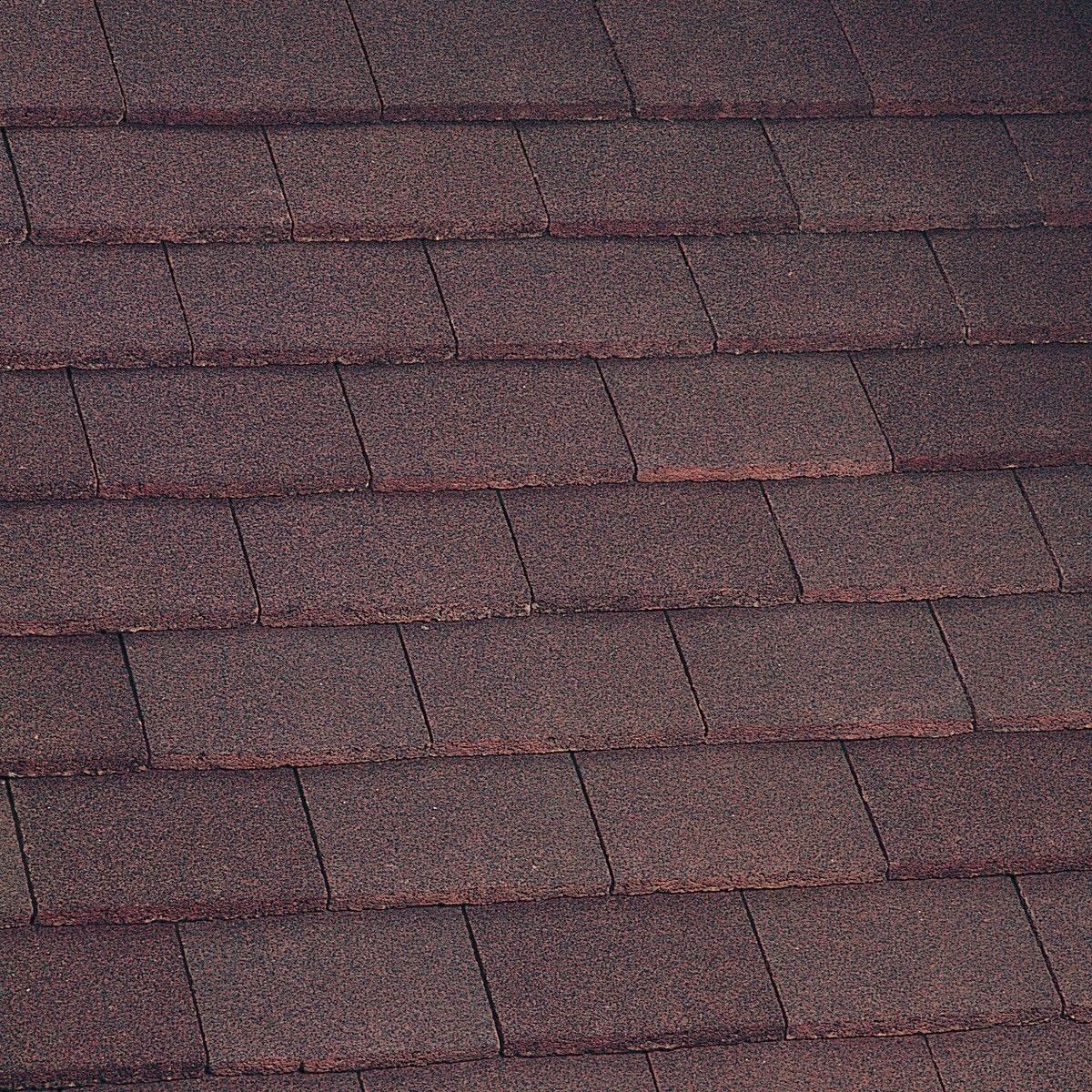 Marley Concrete Dark Red Plain Tile